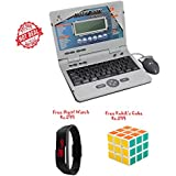 Lets Play Educational And Learning Multi Skill Laptop With 30 Activities, Multi Color+Free Kids Digital Watch...