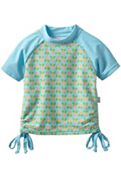 i play. Baby Girls' Short Sleeve Tie Rashguard Shirt