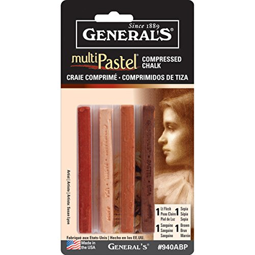 General Pencil Company Compressed Pastel Chalk 4-Pack: Earth Tones earth 2 society vol 4 life after death