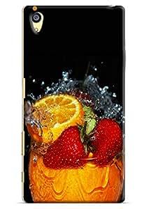 Omnam Fresh Juice Effect Printed Designer Back Cover Case For Sony Xperia Z5 Premium