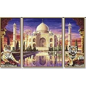 Amazon.com: Taj Mahal Triptych Paint-by-Number Kit: Toys ...