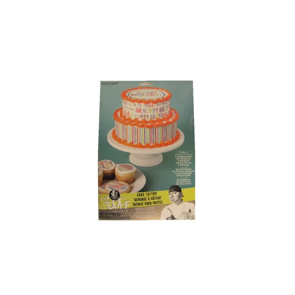 Duff Goldman Edible Cake Cupcake Cookie Tattoo Decorations ~ Happy Birthday
