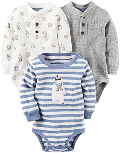 Carter's Baby Boys Multi-Pack Bodysuits 127g215, Assorted, 12M
