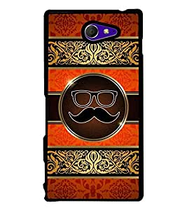 Printvisa Moustache Uncle 2D Hard Polycarbonate Designer Back Case Cover For Sony Xperia M2 Dual :: Sony Xperia M2 Dual D2302