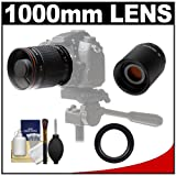 Vivitar 500mm f 8.0 Mirror Lens with 2x Teleconverter (=1000mm) + Accessory Kit for Sony Alpha DSLR SLT-A35 - A37 - A55 - A57 - A65 - A77 - A99 Digital SLR Cameras