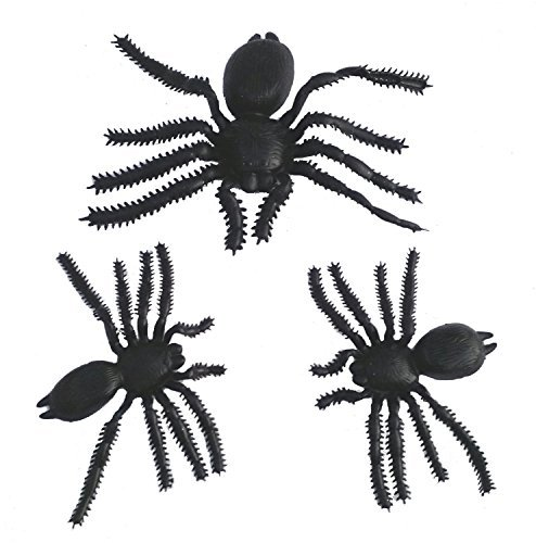 [Black Halloween Spooky Spiders (Set of 3, Black) (3, 1 Large + 2 Medium) decoration] (Homemade Ty Beanie Baby Costumes)