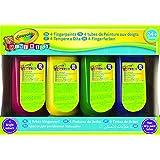 Crayola Mini Kids - Dessin Et Peinture - 4 Flacons De Peinture Au Doigt