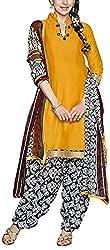 Fabiola Trendz Women's Georgette Unstitched Dress Material (Yellow )