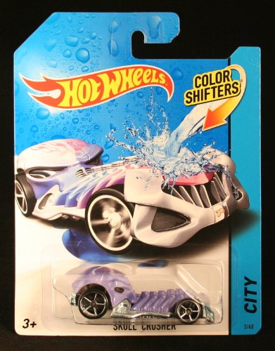 SKULL CRUSHER * COLOR SHIFTERS * 2014 Hot Wheels City Series 1:64 Scale Vehicle #5/48
