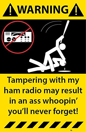 Ham Radio Warning Stickers Assorted 3 Pack Decal 96-97-98 (Ham Radio Decal compare prices)