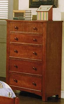 Bedroom Storage Chest Cape Cod Style in Brown Finish