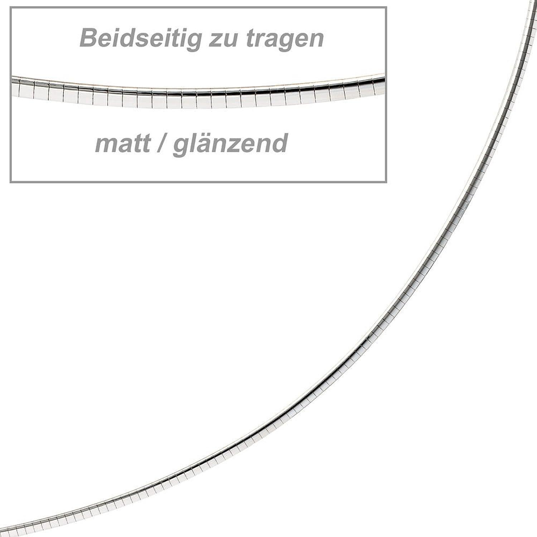 Dreambase Damen-Halsreif Obers. matt 14 Karat (585) Weißgold 42 cm 2.0 mm Karabinerverschluss schenken