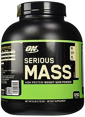 Optimum Nutrition Serious Mass Vanilla Weight Gain Protein Powder | 6
