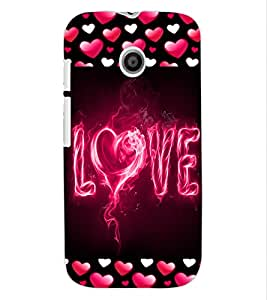 ColourCraft Love Design Back Case Cover for MOTOROLA MOTO E