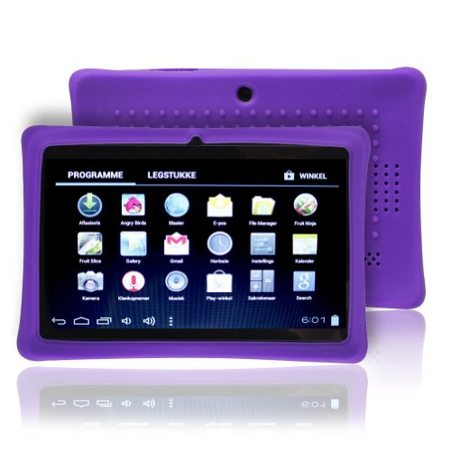 Osgar Defender Series Silicone 7 inch Android Tablet Back Include Case for 7 Dragon Touch Q88,Y88 ,Chromo,Afunta Q88,Kocaso, Alldaymall Q88,Axis,Zeepad 7.0,Matricom,Tagital Tablet (Purple)