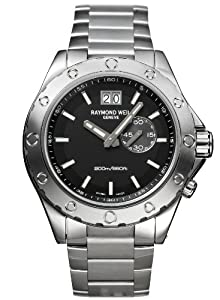 Raymond Weil Men's Quartz Watch with Black Dial Analogue Display and Silver Stainless Steel Strap 8300-ST-20001