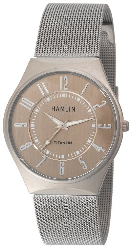 Hamlin Men's HAMM0314:001/04E92GT Titanium Case Grey Dial Stainless Steel Mesh Band Watch