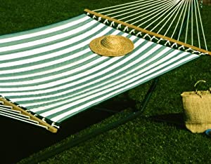 Amazon Com Castaway Q8205 Large Quilted Hammock Green