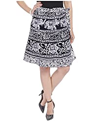 Soundarya Women's Cotton Skirt (Black) - B01DIWUKPG