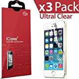 iCarez® [HD Clear] Highest Quality Premium Screen protector for Apple iPhone 5 / iPhone 5S / iPhone 5C Highest Quality Premium High Definition Ultra Clear & Anti Bacterial & Anti-Oil & Anti Scratch & Bubble free & Reduce Fingerprint & No rainbow & washable Screen Protector **PET Film Made in Japan** Easy install & Green healthy Product with Lifetime Replacement Warranty [3-Pack] – Retail Packaging 2013 (1 month promotion) Reviews
