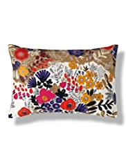Saffy Print & Embroidered Cushion