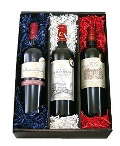 Rotwein aus Frankreich 3 Flaschen Probier-Set
