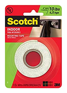 3m heavy duty mounting tape 1 inch by 50 inch home improvement. Black Bedroom Furniture Sets. Home Design Ideas