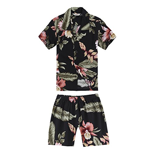 Boy Hawaiian Shirt and Shorts 2 Piece Rayon