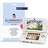 iLLumiShield - New Nintendo 3DS Screen Protector {2015} + (HD) Blue Light UV Filter / Premium Clear Film / Anti-Fingerprint / Anti-Bubble Shield - [2-Pack]& Lifetime Warranty {Standard Version}