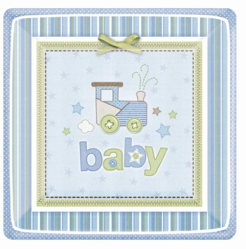 Amscan Carters Baby Boy Square Dessert Plates - 1