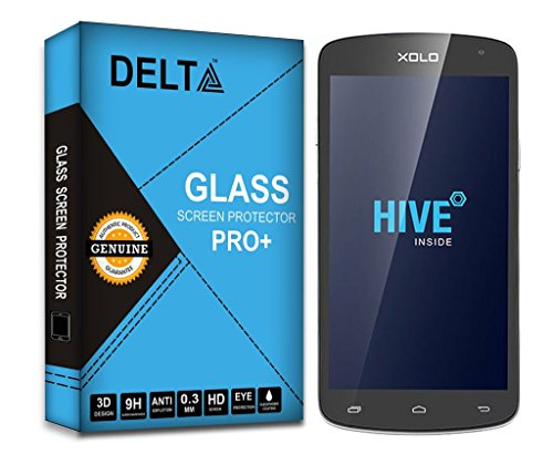 XOLO Omega 5.5 Screen Protector,Delta Premium Pro+ Tempered Glass,Shatter Proof Screen Protector for XOLO Omega 5.5 with Cleaning Kit [2.5D round Edges,0.3mm,9H hardness]  available at amazon for Rs.185