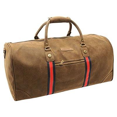 Kangol Antique Holdall Caryall Bag Removable Shoulder Strap Zip by Kangol