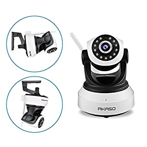 AKASO IP1M-903 Wireless 720P IP camera Wifi Security Home Monitoring CCTV Surveillance Network Webcam Pan/Tilt Video Surveillance 2 way Audio SD Card Slot Night Vision by AKASO