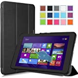 "MoKo Dell Venue 8 2014 / Venue 8 PRO 2013 Case - Ultra Slim Lightweight Smart-shell Standing Cover case for Dell Venue 8 2014 / Venue 8 PRO 8 "" Inch Tablet, BLACK (WILL NOT Fit Venue 8 2013)"