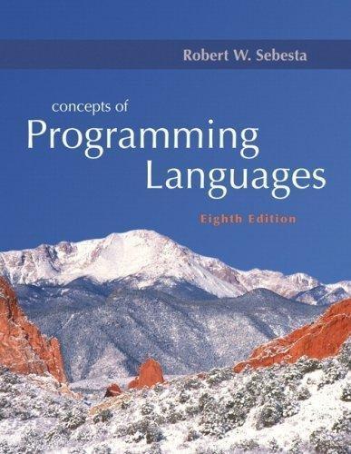 Principles Of Programming Languages Robert W Sebesta Pdf