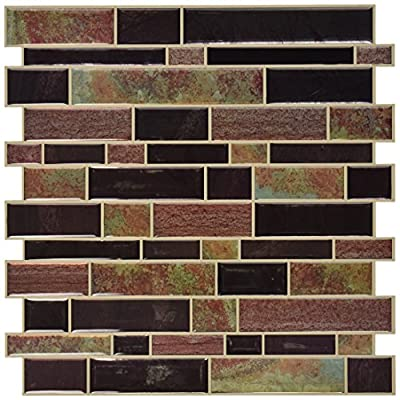 """RoomMates Modern Long Stone StickTILES, 4-pack 10.5"""" X 10.5"""" by York Wallcoverings - Wall Decals"""