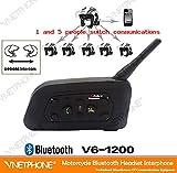 バイク用インカム インターコム 無線機 トランシーバー 最大4台同時通話可 Bluetooth搭載 2機セット ORG-V6-1200