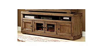 74 in. Traditional Wooden TV Console Table