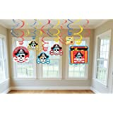 Pirate Party Hanging Swirl Decorations (12ct)