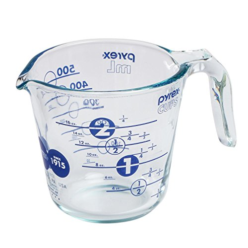 Pyrex 2 Cup Anniversary Measuring Cup - BLUE (2 Cup Measuring Pyrex compare prices)