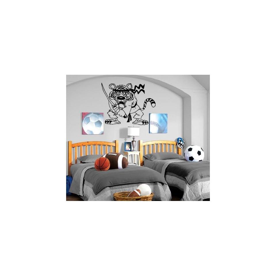 Karate Ninja Tiger Cartoon Kids Room Nursery Wall Mural Vinyl Art Sticker M141