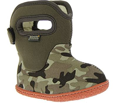 BOGS Kids' Camo Waterproof Rain Boot Toddler (Chocolate/Multi 4.0 M)
