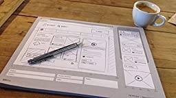 LIMITED OFFER! UI Sketchbook by UIKits ideal for use with UI Stencils - Responsive Sketchpad x 2 Packs