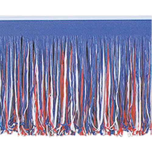 6-Ply Tissue Fringe Drape (red, white, blue) Party Accessory  (1 count)