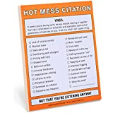 Knock Knock Nifty Note Pad, Hot Mess Citation