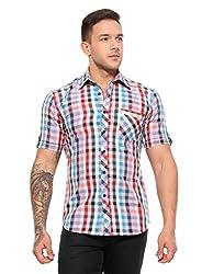 Wajbee Men's 100% Cotton Casual Half Shirt-XL