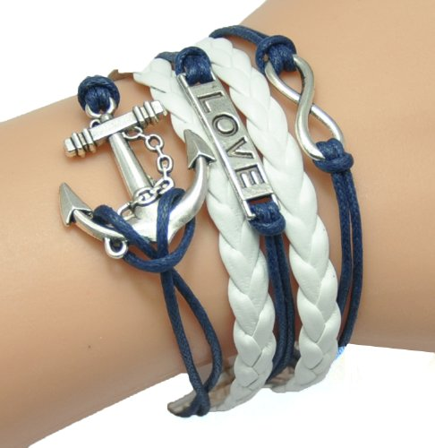 HUMASOL Glamour Charms Leather Suede Friendship Bracelet Gift image