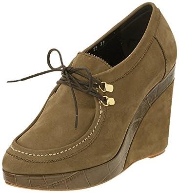Gaspard Yurkievich Platform Brogue, Boots compensées femme - Vert (Var23/Kaki), 38 EU