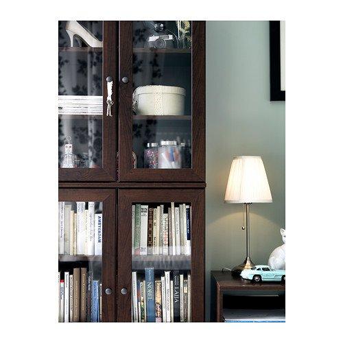 IKEA-Tischlampe-Arstid-56cm-hohe-Tischleuchte-vernickelt-mit-Stoffschirm