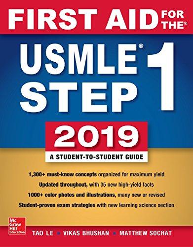 First Aid for the USMLE Step 1 2019,  Twenty-ninth edition [Le, Tao - Bhushan, Vikas] (Tapa Blanda)